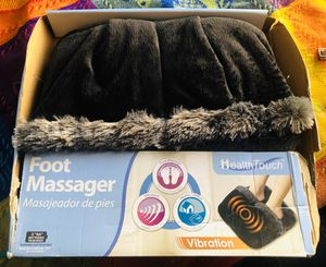 Foot Massager with Black and Grey Luxuriously Soft Fabric for Sale in Industry, CA