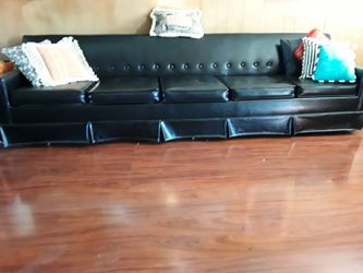 Five cushion leather black sofa for Sale in Plain City,  OH