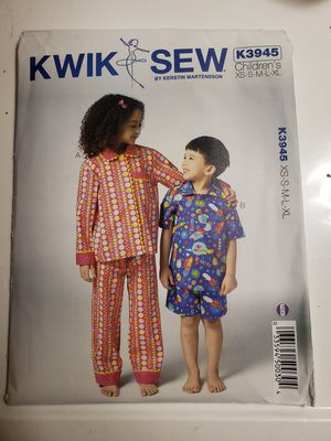 Kwik Sew K3945 children's pajamas sewing Pattern for Sale in Sanford, FL