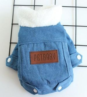 Denim/Fur dog/cat jackets Small to XL for Sale in Virginia Beach, VA