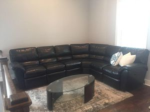 Leather sectional couch for Sale in Nashville, TN