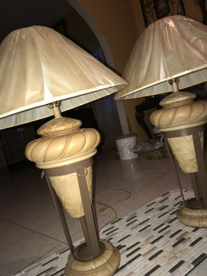 Porcelain Lamps (Plastic is removable) for Sale in Manassas, VA