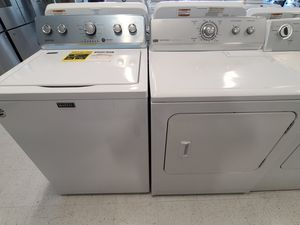 Maytag tap load washer new and electric dryer used mix and match set used in good condition with 4month's warranty for Sale in Mount Rainier, MD