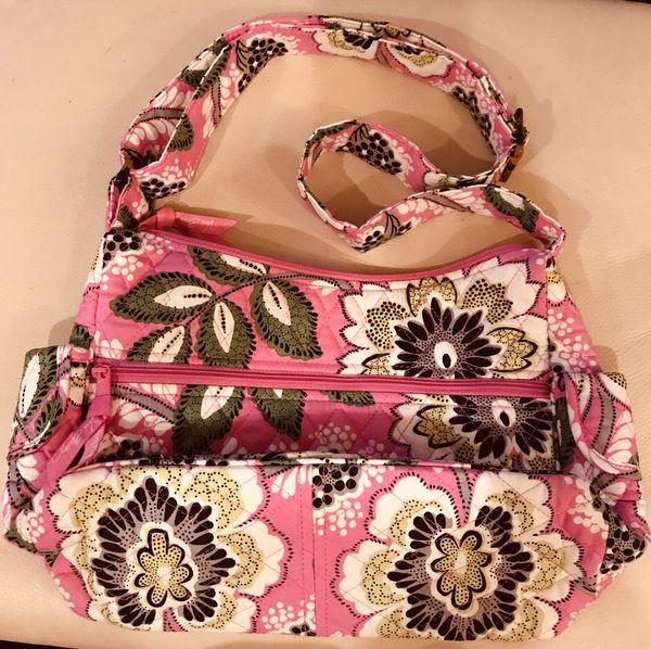 Vera Bradley pinky flower cross-over purse