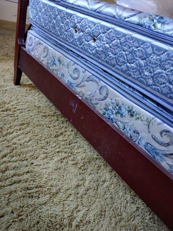 Mid Century Mahogany Double Bed