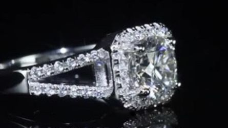 Beautiful 925 Sterling Silver Diamond Promis Engagement Wedding Ring for Sale in San Jose,  CA