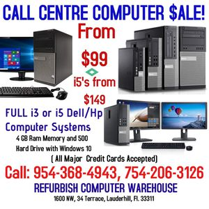 BIG SALE on Call Center Computers!! for Sale in Fort Lauderdale, FL