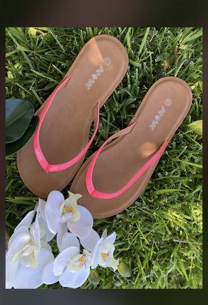 Hot pink flip flop sandals for Sale in Glendora, CA