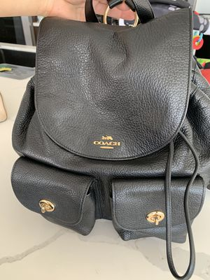 Coach leather backpack for Sale in Whittier, CA