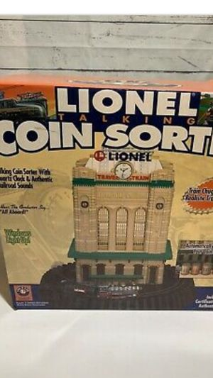 New Lionel Limited Edition Coin Sorter with Clock and Sounds. for Sale in Murrieta, CA