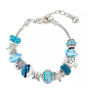 Ocean Blue Shell Charmed Bracelet for Sale in Atlanta, GA
