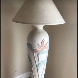 Vintage boho retro mid century plaster ceramic floor lamp for Sale in Azusa, CA