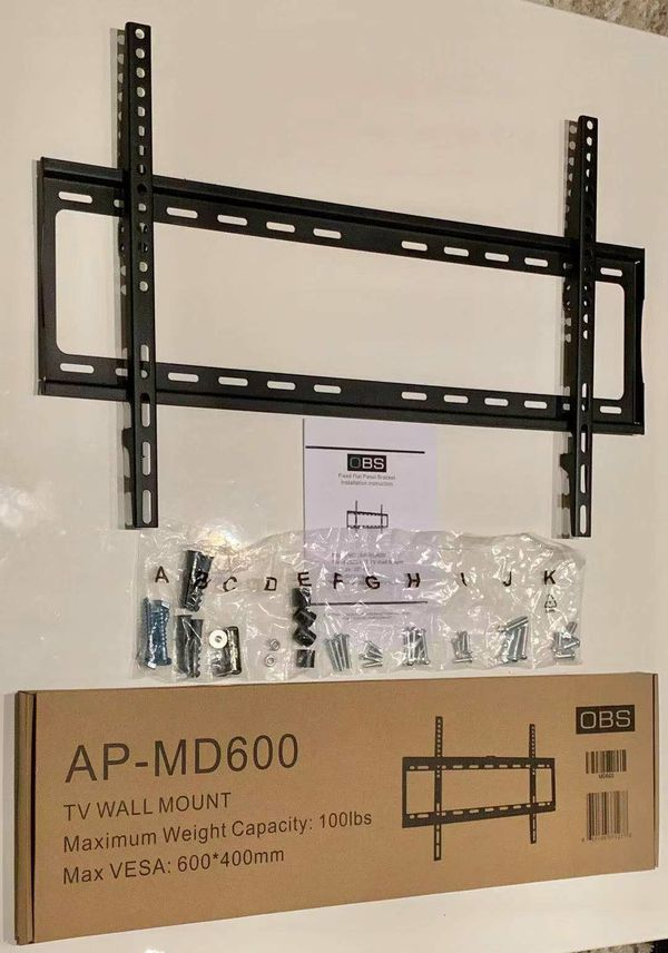 """New LCD LED Plasma Flat Fixed TV Wall Mount stand 32 37"""" 40"""" 42 46"""" 47 50"""" 52 55"""" 60 65"""" inch tv television bracket 100lbs capacity"""