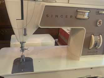 Singer touch and sew sewing machine and sewing table for Sale in Corbett,  OR