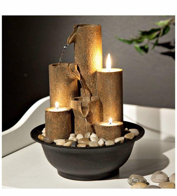 New Zen Tabletop Tiers Office Livingroom Bedroom Pouring Decor 3 Tier Indoor Waterfall Fountain