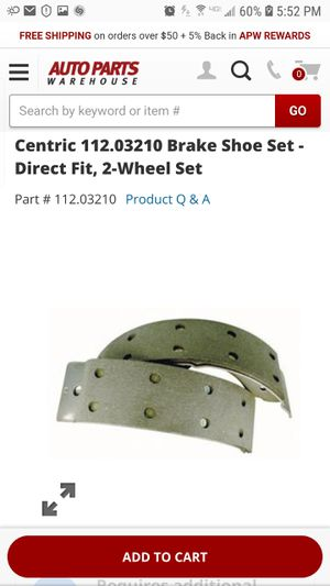 TRUCK BRAKE SHOES -NEW for Sale in Cleveland, OH