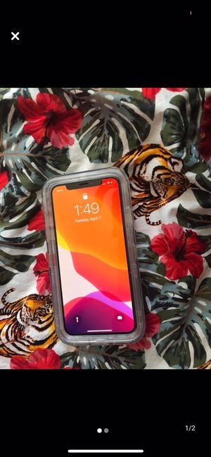 iPhone X sprint iCloud ready will restart wen money in hand or in any payments brand new case charger for Sale in Newport News, VA