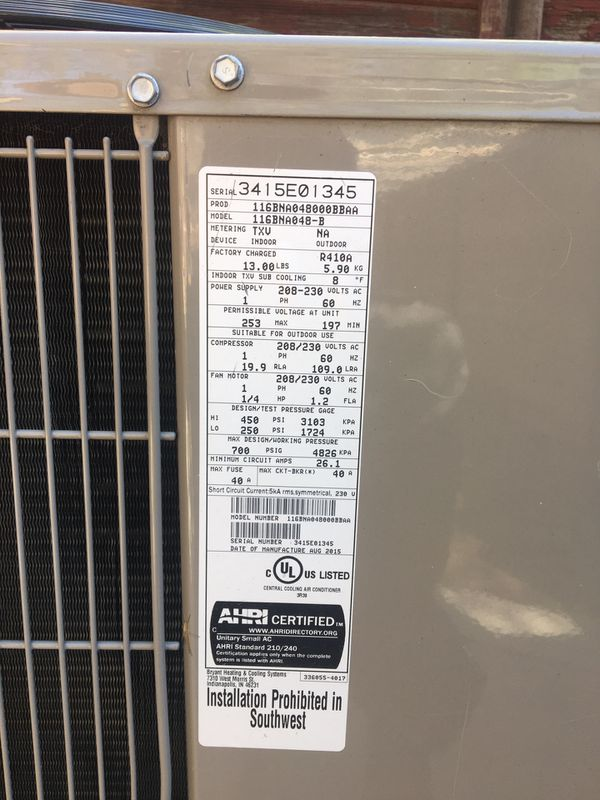 Bryant® Legacy™ - 4.0 Ton 16 SEER Residential Air Conditioner Condensing Unit (116BNA048) and COMFORT™ FAN COIL FB4C