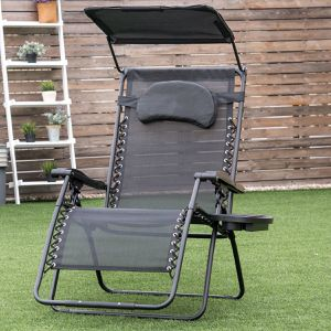 Folding Recliner Lounge Chair w/ Shade Canopy Cup Holder for Sale in Irvine, CA