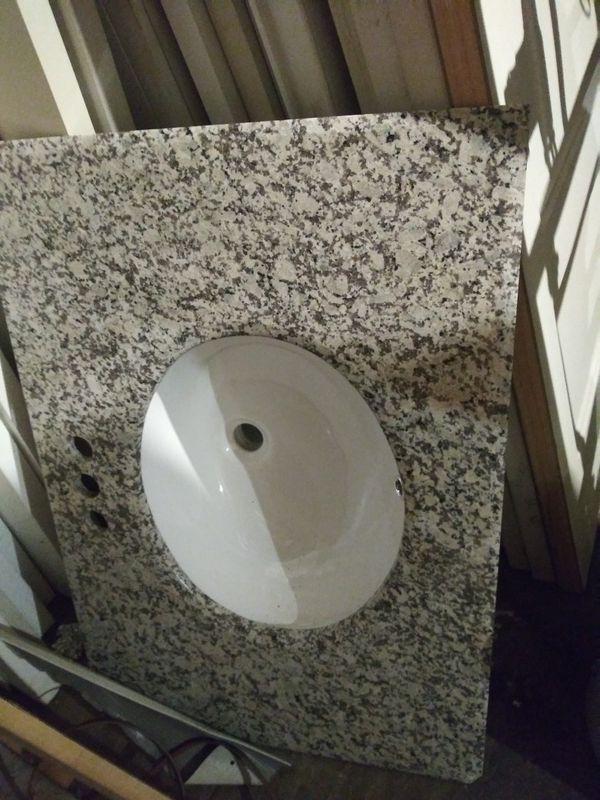 "Bathroom Sink w/ 31"" Marble Countertop"