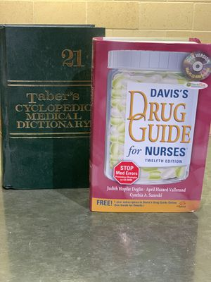 Tabers Medical dictionary & David Drug guide for Sale in Concord, CA