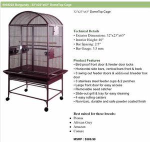 "Brand new in box 32"" wide cage burgundy color for Sale in Miami, FL"