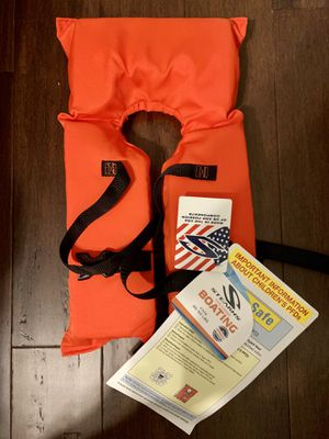 Life Jacket Child 30-50 lb $15 for 2 NEW for Sale in Fayetteville, AR