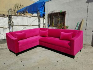NEW 7X9FT PINK FABRIC SECTIONAL COUCHES for Sale in Imperial Beach, CA