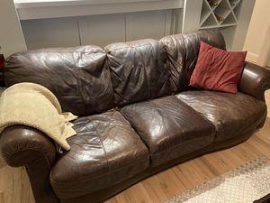 Leather Sofa for Sale in Arlington, VA