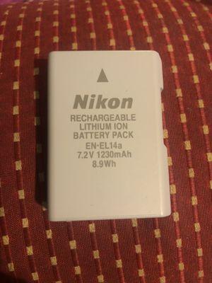 nikon en-el14a battery (original) for Sale in West Valley City, UT