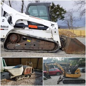 Bobcat skid steer buggy miniexcavation for Sale in Houston, TX