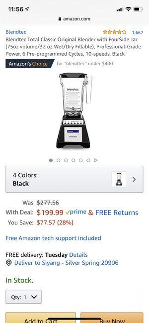 blendtec Blender/juicer/like new condition for Sale in Silver Spring, MD