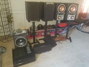 Jbl studio series speakers with Yamaha receiver price negotiable for Sale in Atlanta, GA