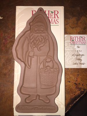 Longaberger Pottery Father Christmas Cookie Mold NIB for Sale in Queen Creek, AZ