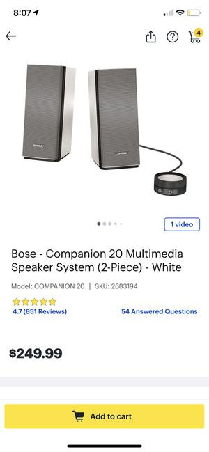 Bose Companion 20 Speakers (Like New) for Sale in San Leandro, CA
