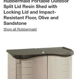 RUBBERMAID STORAGE SHED New $145 for Sale in Bakersfield, CA