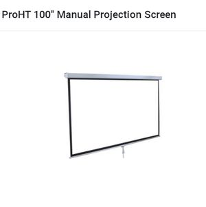 """Inland ProHT 100"""" Manual Projection Screen for Sale in Ontario, CA"""