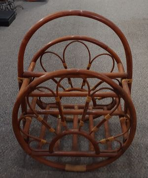 Mid-Century Bamboo Magazine Rack for Sale in Burlington, NC