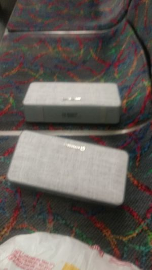 2 twin grey bluetooth speakers for Sale in Cambridge, MA