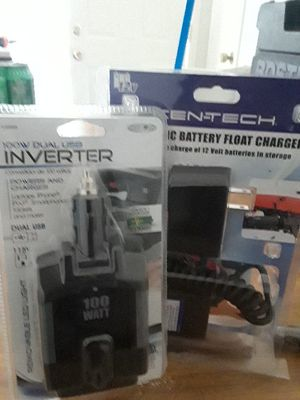 Dual use USB inverter 100w and battery float charger for Sale in Glendale, AZ