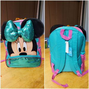 Minnie mouse sequin bow backpack 🎒 for Sale in Riverside, CA