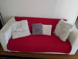 Moving sale.....Ikea Futon sofa with 4 pillows & throw ( didn't wash cover) it's washeble cover!! for Sale in San Diego, CA