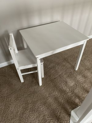Kids table with chair for Sale in Streamwood, IL