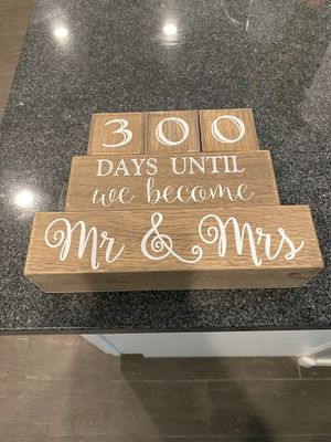 Days/Weeks Until Mr. & Mrs. Countdown for Sale in Gilbert, AZ