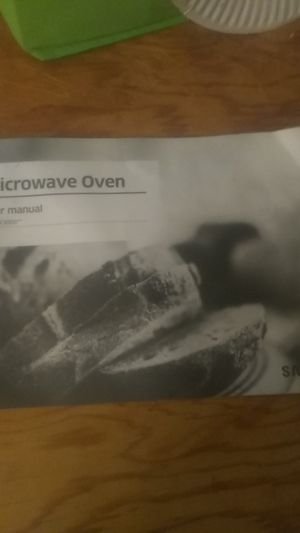 Samsung Microwave oven user manual ms11k3000 for Sale in Bakersfield, CA