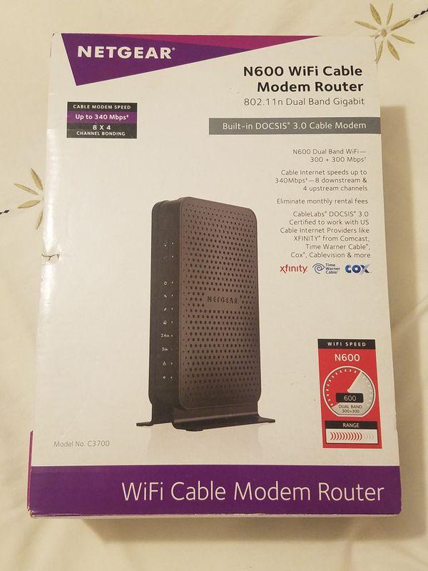 Netgear N600 Wi-fi Cable Modem Router (Gigabit Docsis 3.0)