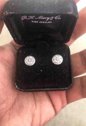 Bridge Diamond Sterling Silver earrings for Sale in Cambridge, MA