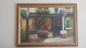 Charming Painting Depicting Quaint Bakery for Sale in Alexandria, VA