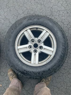 Pair of 255/70R18 Bridgestone dueler A/T tires with rims for Sale in Bull Valley, IL