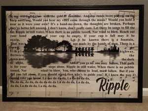 "26"" x 38"" Grateful Dead ""Ripple"" lyric poster framed for Sale in Lakewood, CO"